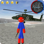 Spider Stickman Rope Hero Gangstar Crime ícone