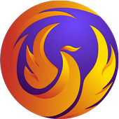 Phoenix Browser - Download vídeo, privado e rápido ícone